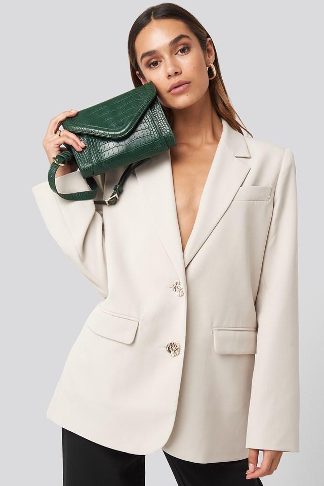 Mini Two Way Bag Green Croco