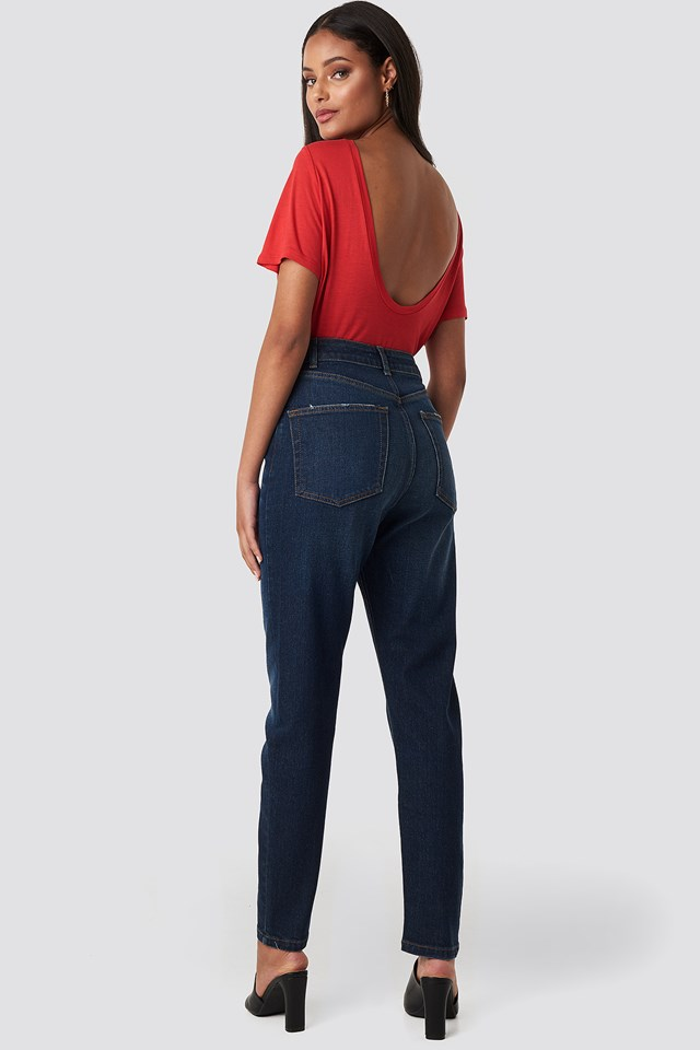 Mom Jeans Dark Blue