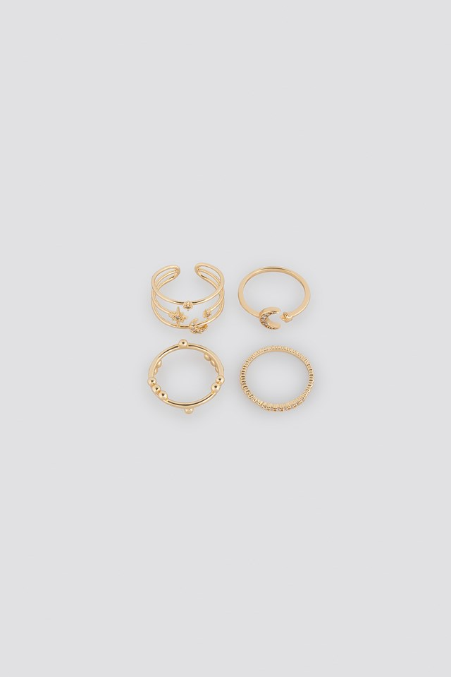 Moon Star Multipack Rings NA-KD Accessories