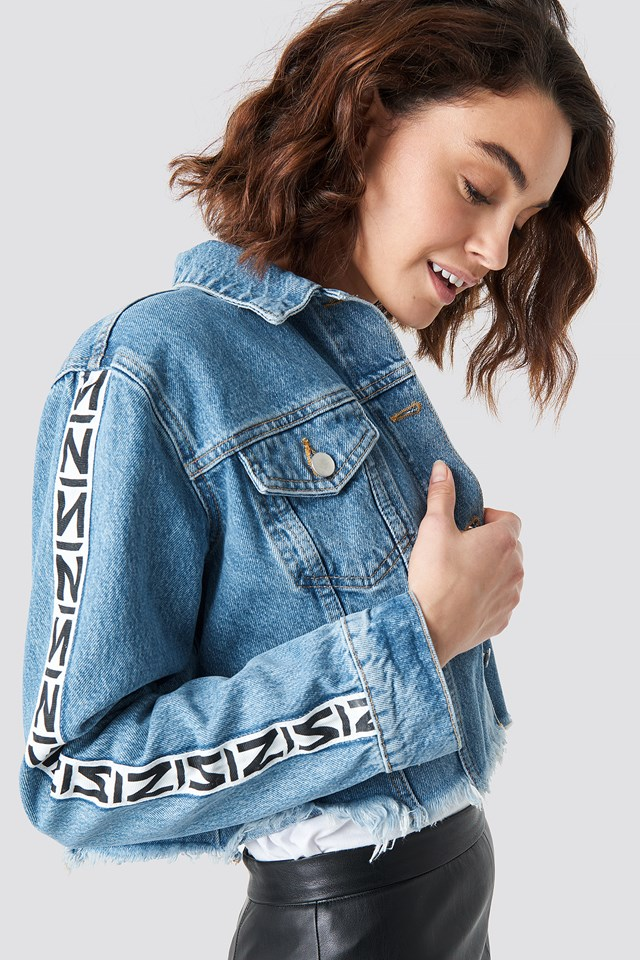 N Branded Denim Jacket NA-KD Trend