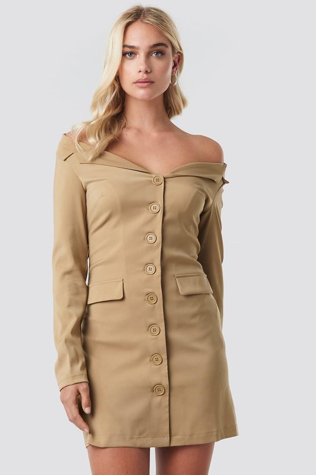Off Shoulder Blazer Dress NA-KD