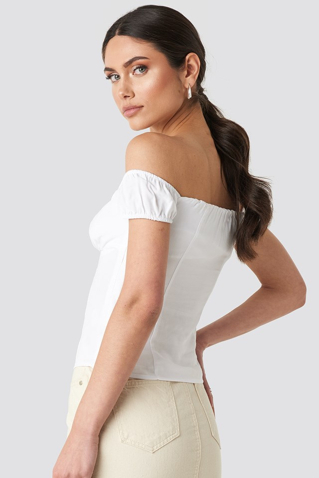 Off Shoulder Top Optical White