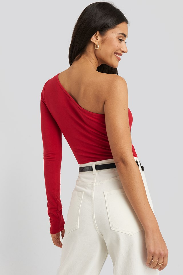 One Shoulder Body Red