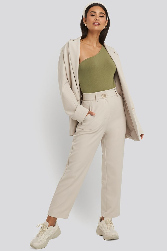 One Shoulder Body Khaki