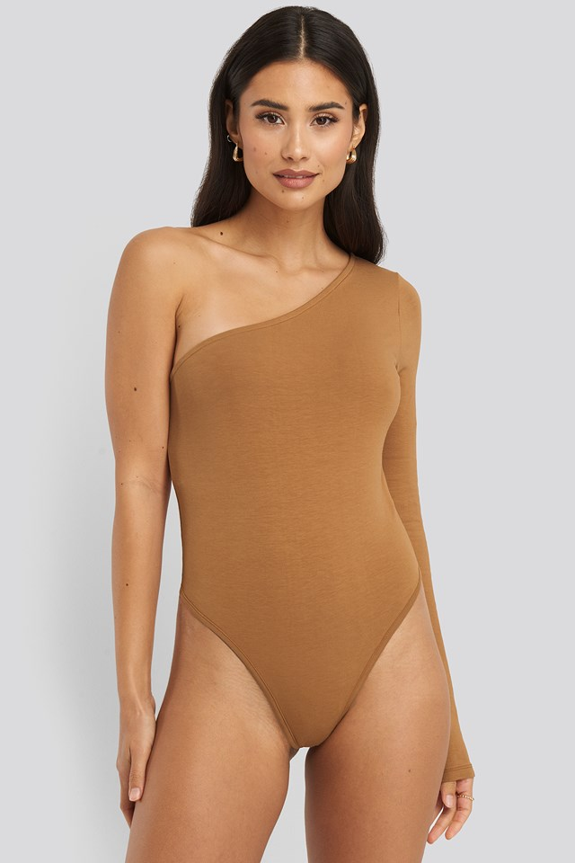 One Shoulder Body Tan