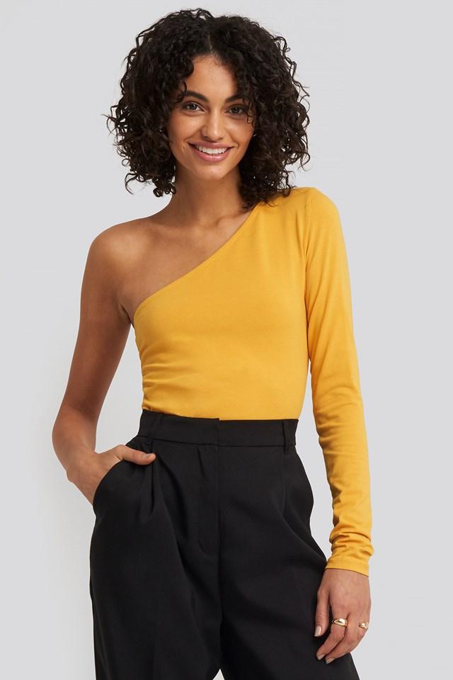 One Shoulder Body Mustard