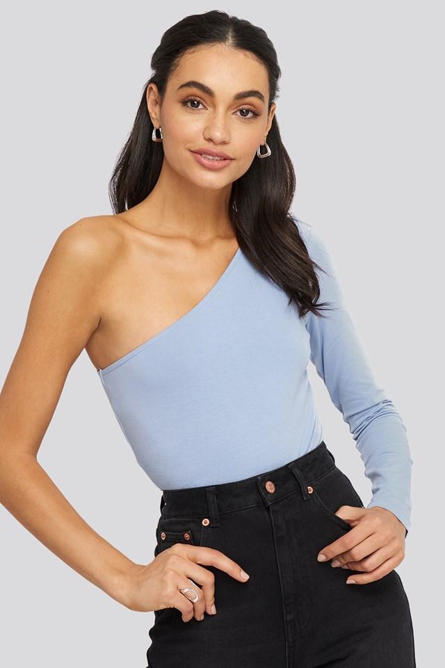 One Shoulder Body Dusty Light blue