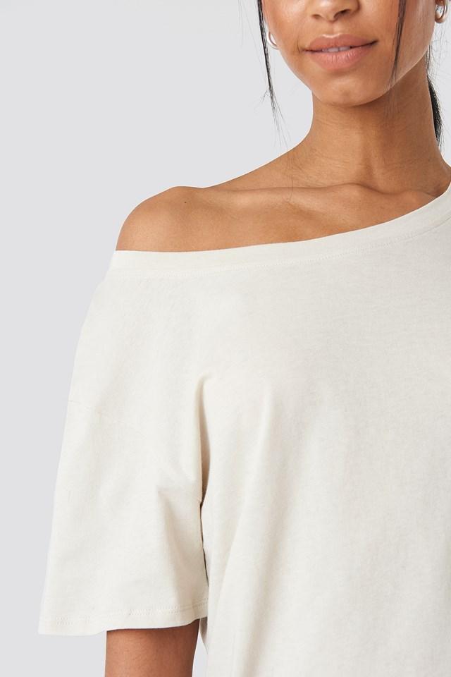 One Shoulder T-shirt Dress Dusty Light Beige