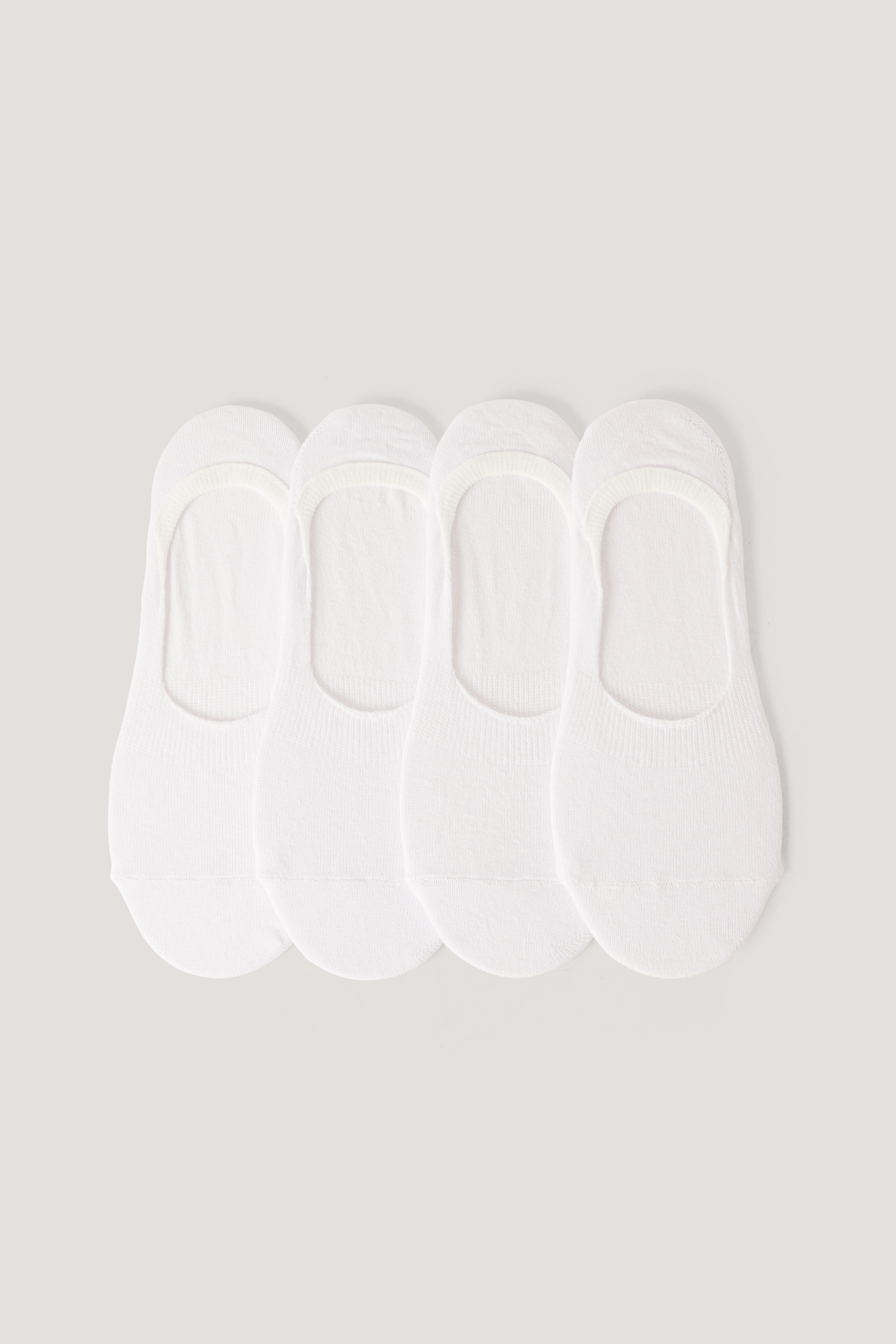 White Organic Footies 4 pack