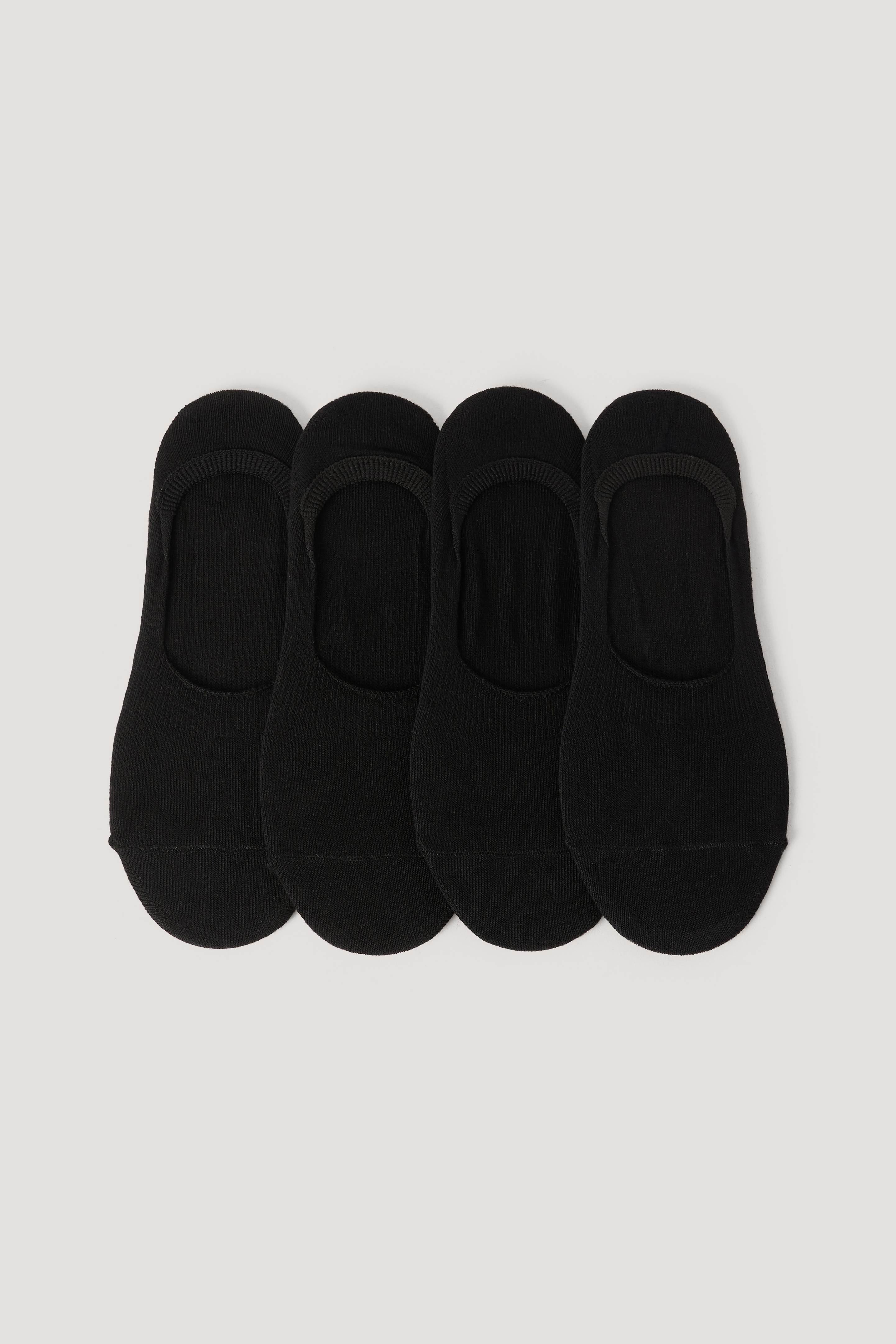 Black Organic Footies 4 pack