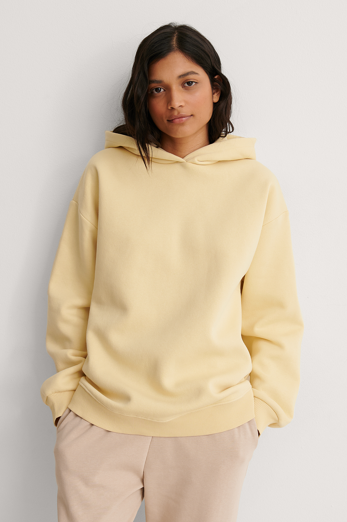 Light Yellow Organic Oversized Hoodie