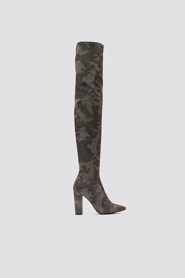 Over Knee Camo Boot Army