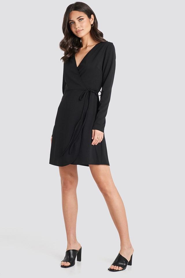 Overlap Dress Black