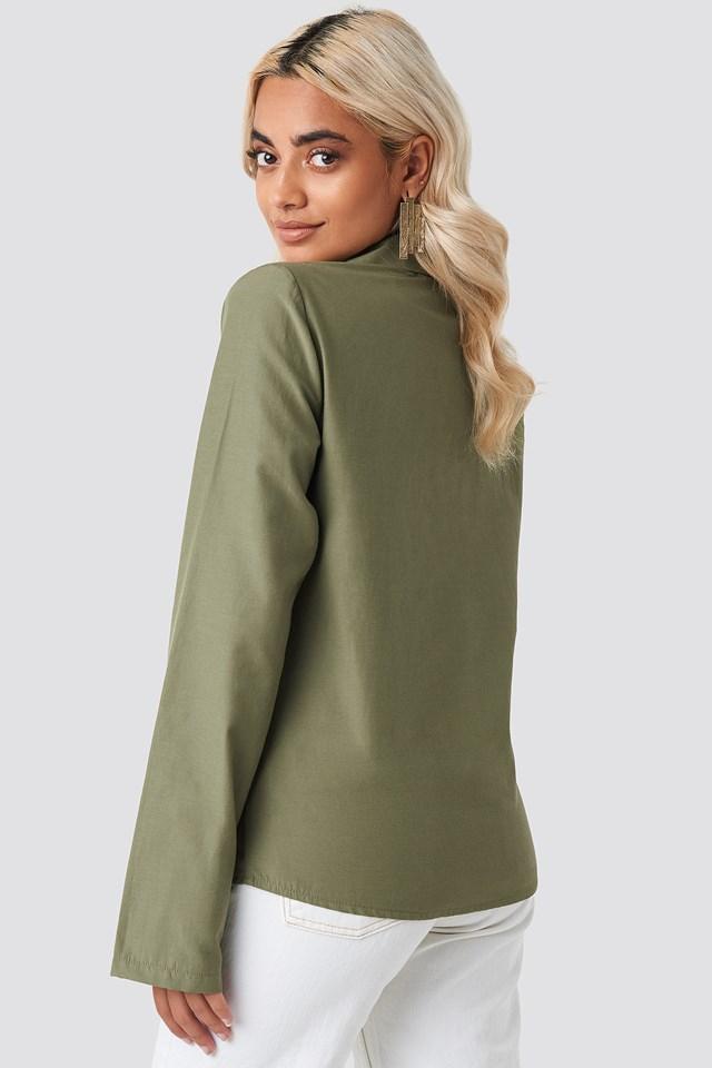 Overlap Shirt Green