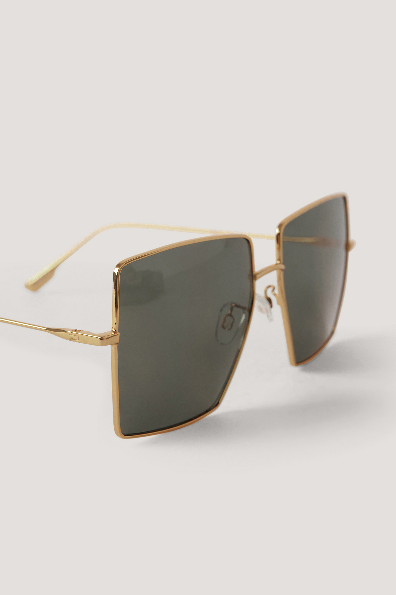 Gold Oversize Square Frame Sunglasses