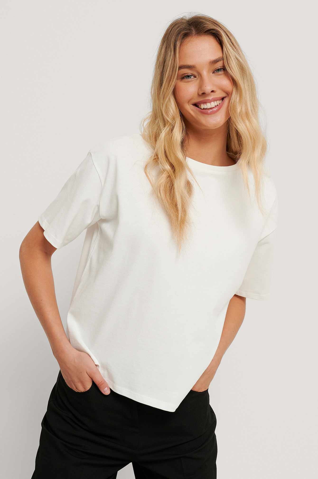 White Oversized Boxy Tee