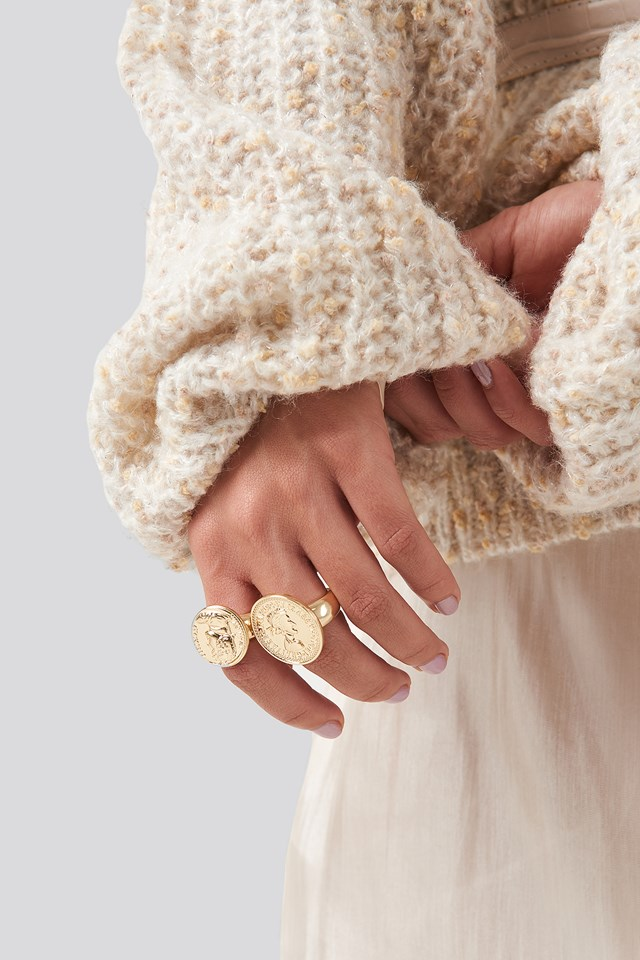 Oversized Coin Ring NA-KD Accessories
