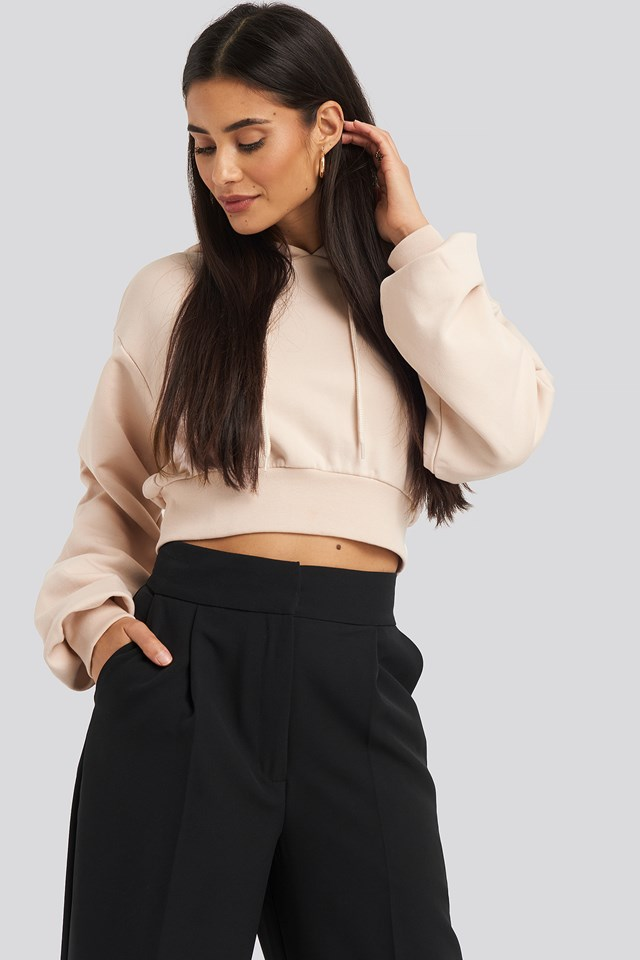 Oversized Cropped Hoodie NA-KD