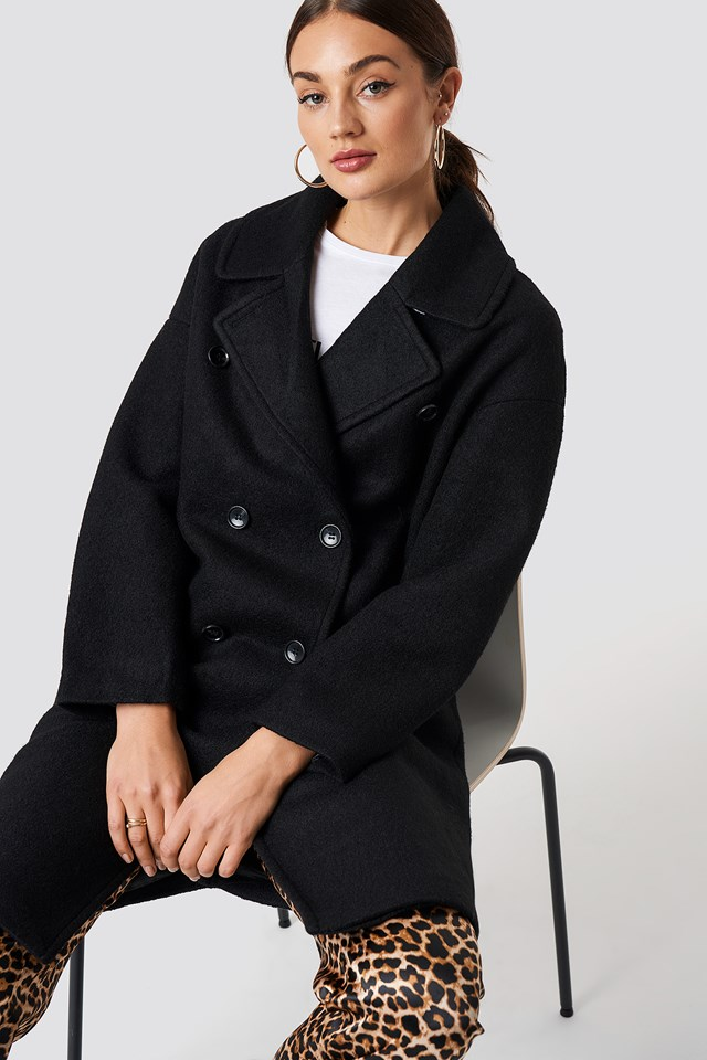 Oversized Double Breasted Coat NA-KD