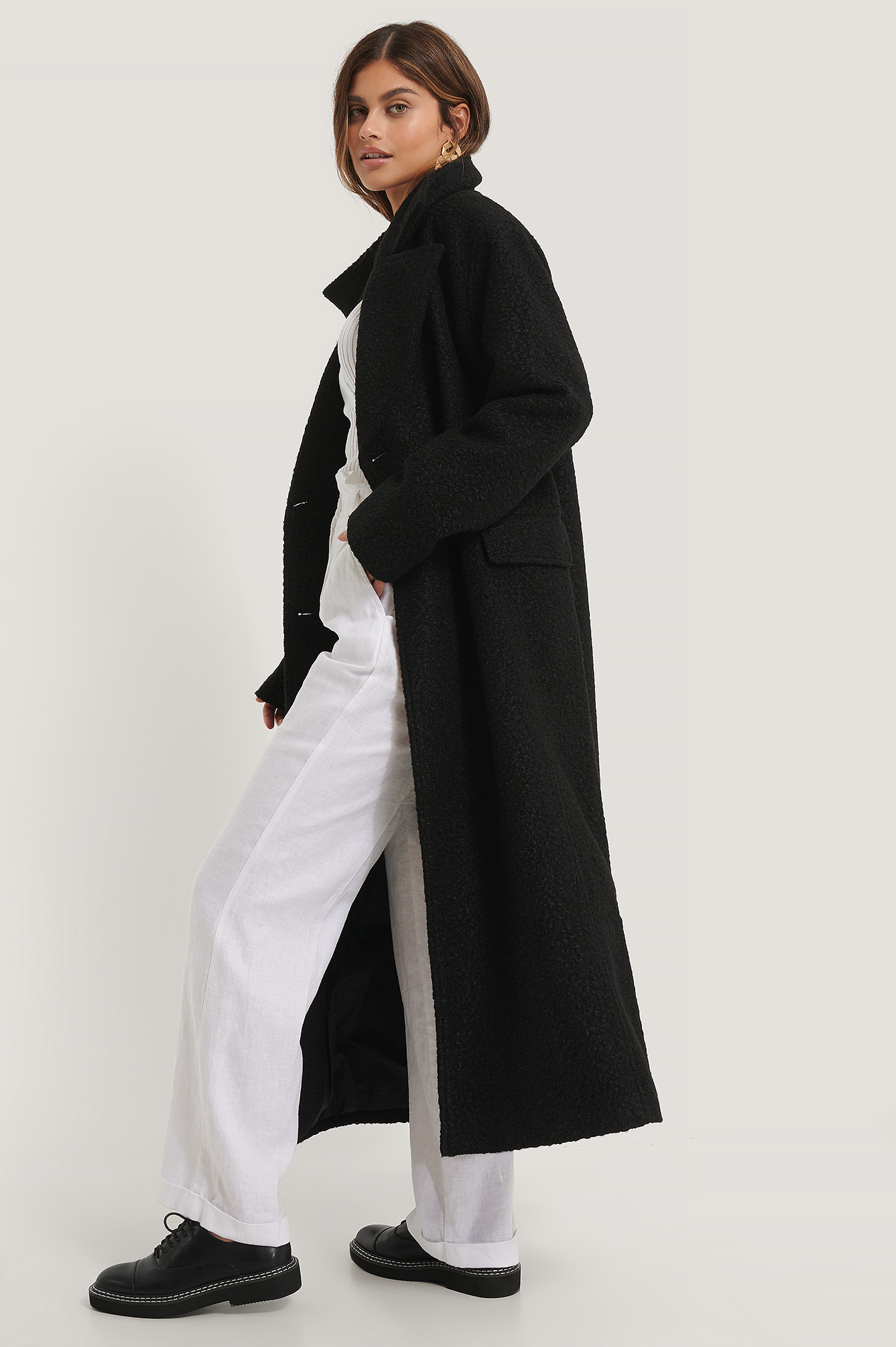 Black Oversized Maxi Coat