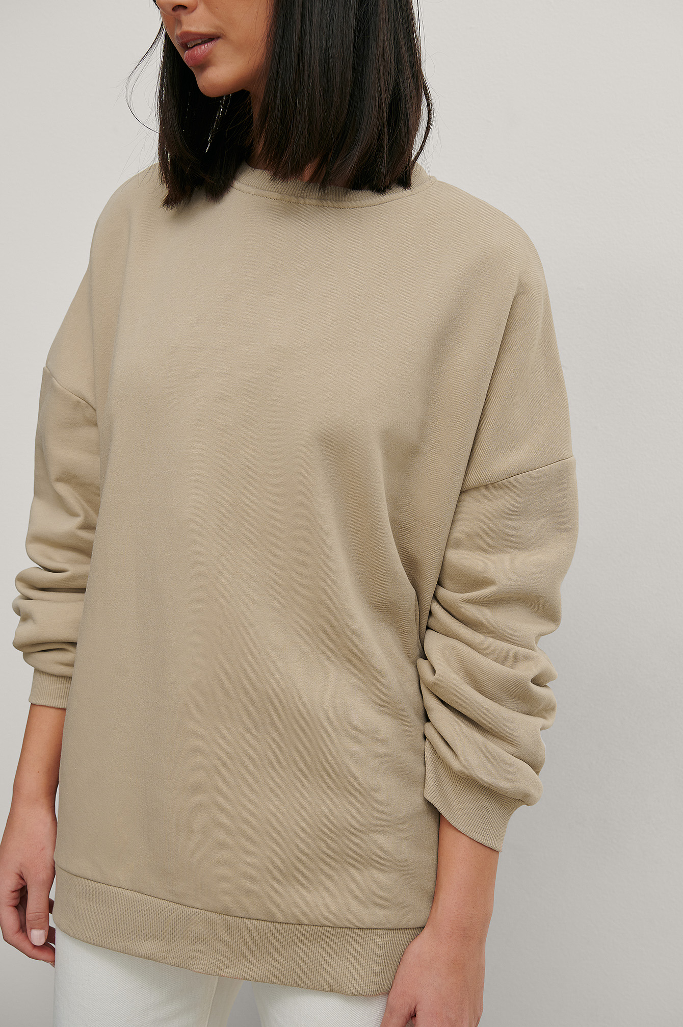 Beige Organic Oversized Sweater
