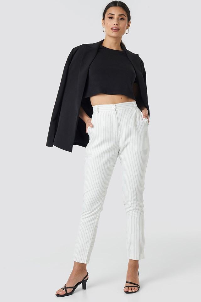 Pinstripe Suit Pants NA-KD Classic
