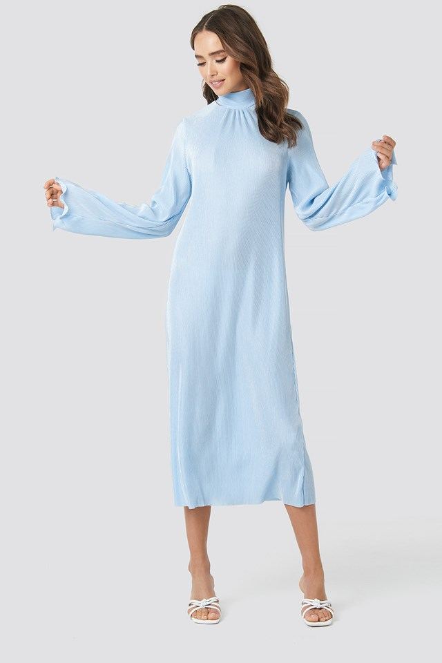 Pleated Wide Sleeve Ankle Dress NA-KD Trend