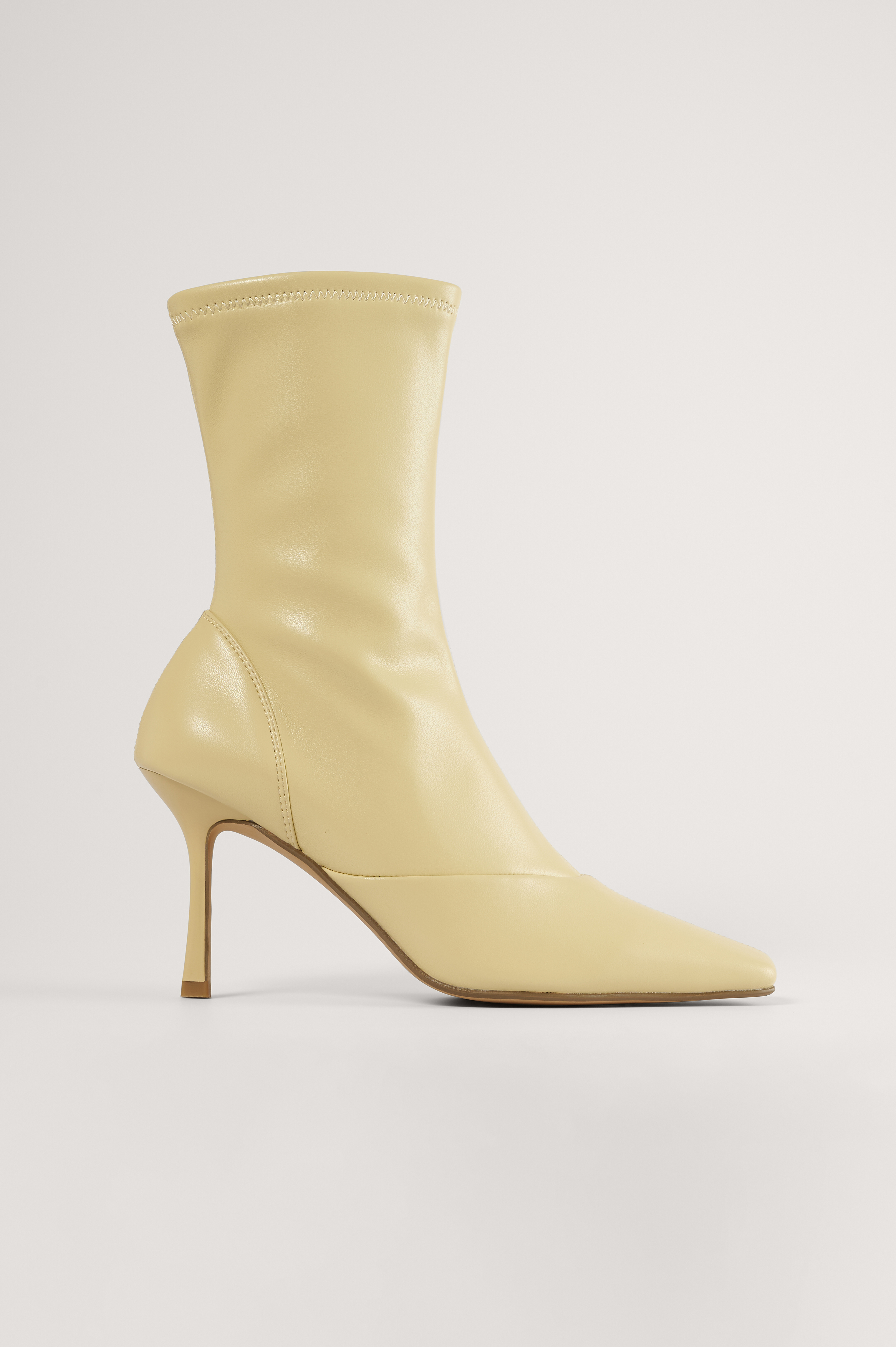 Light Yellow Pointy Hourglass Boots