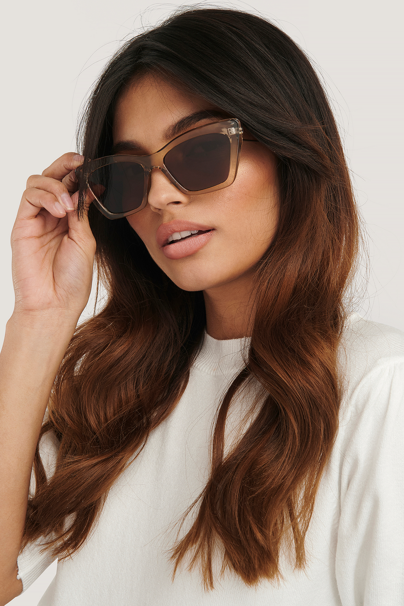 Amber Pointy Squared Cateye Sunglasses