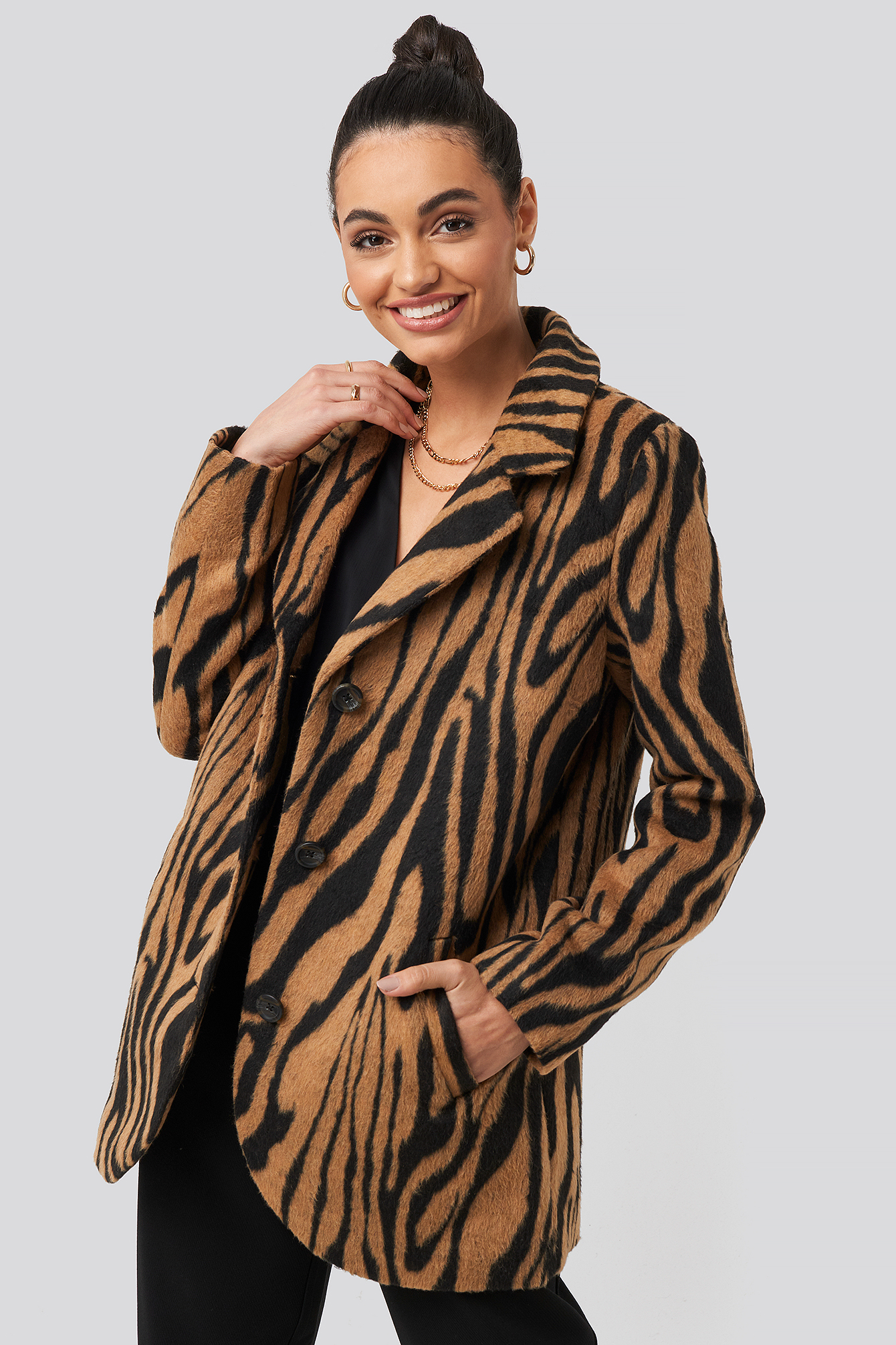 Animal Print Printed Tiger Coat