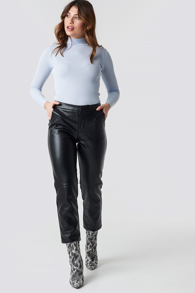 PU Pants Black