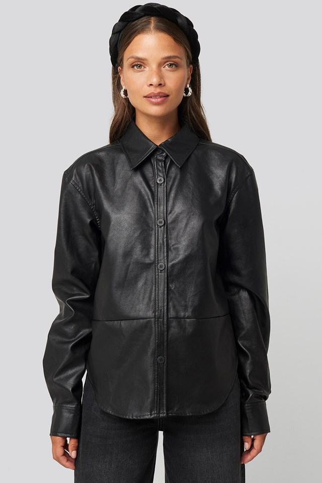 Pu Shirt Black