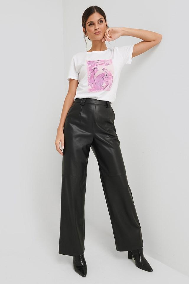 PU Wide Leg Pants NA-KD Trend