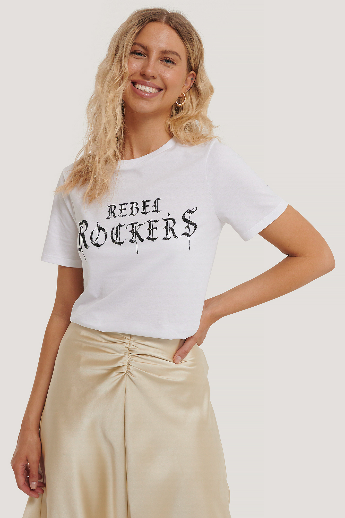 White Rebel Rockers Tee