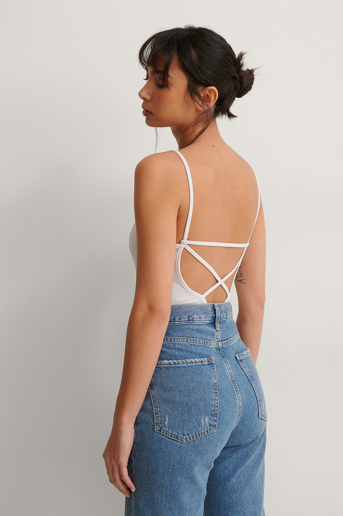 White Recycled Back Cross Rib Body