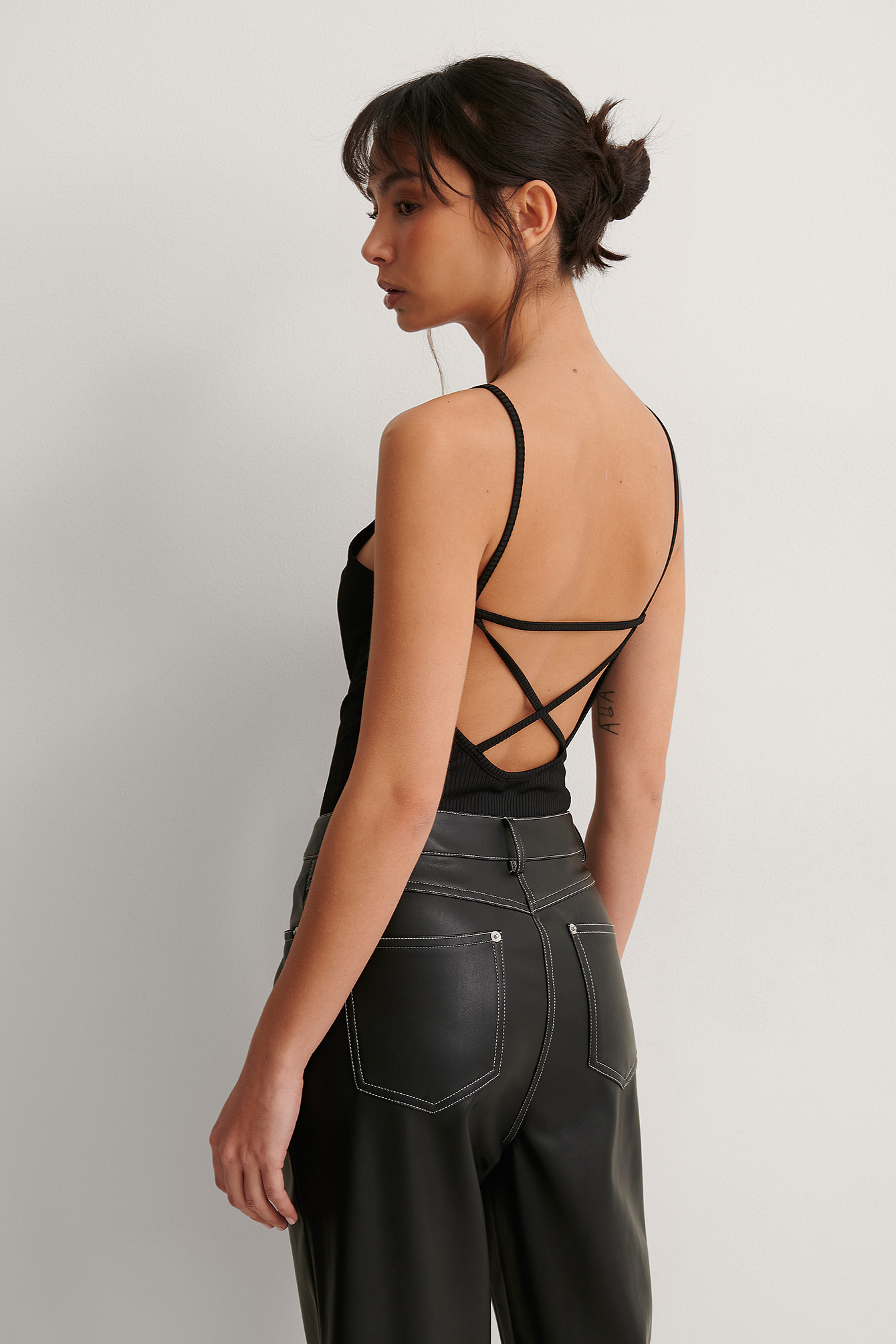 Black Recycled Back Cross Rib Body