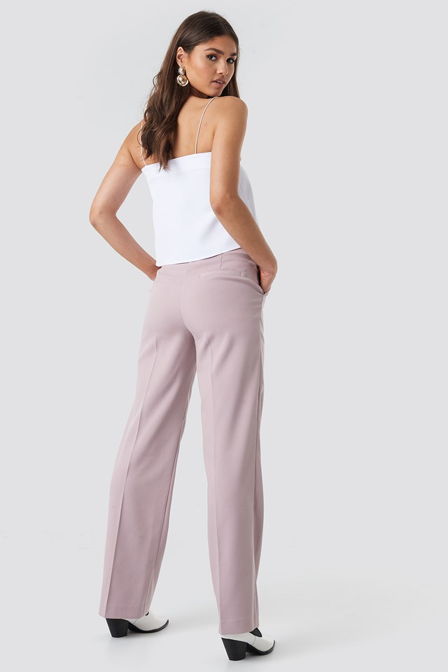 Regular Straight Suit Pants Lilac