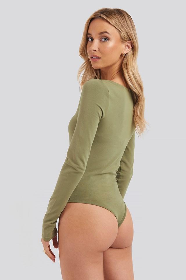 Round Neck Body Khaki