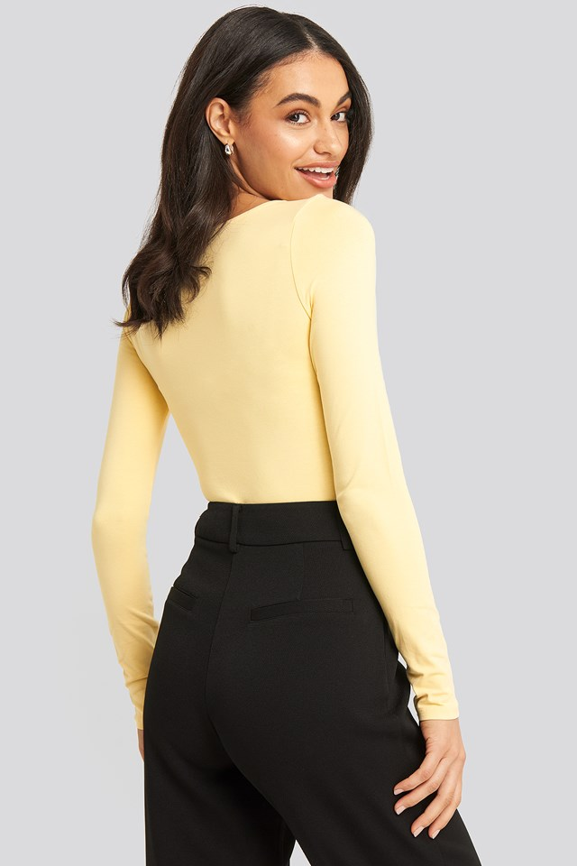 Round Neck Body Light Yellow