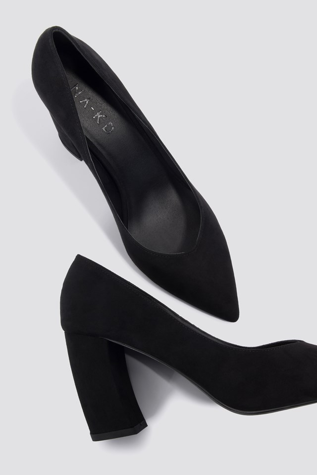 Rounded Heel Pumps NA-KD Shoes
