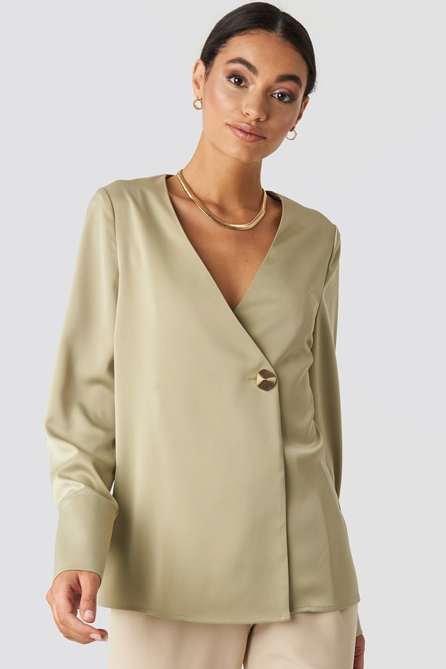 Satin Blouse Olive