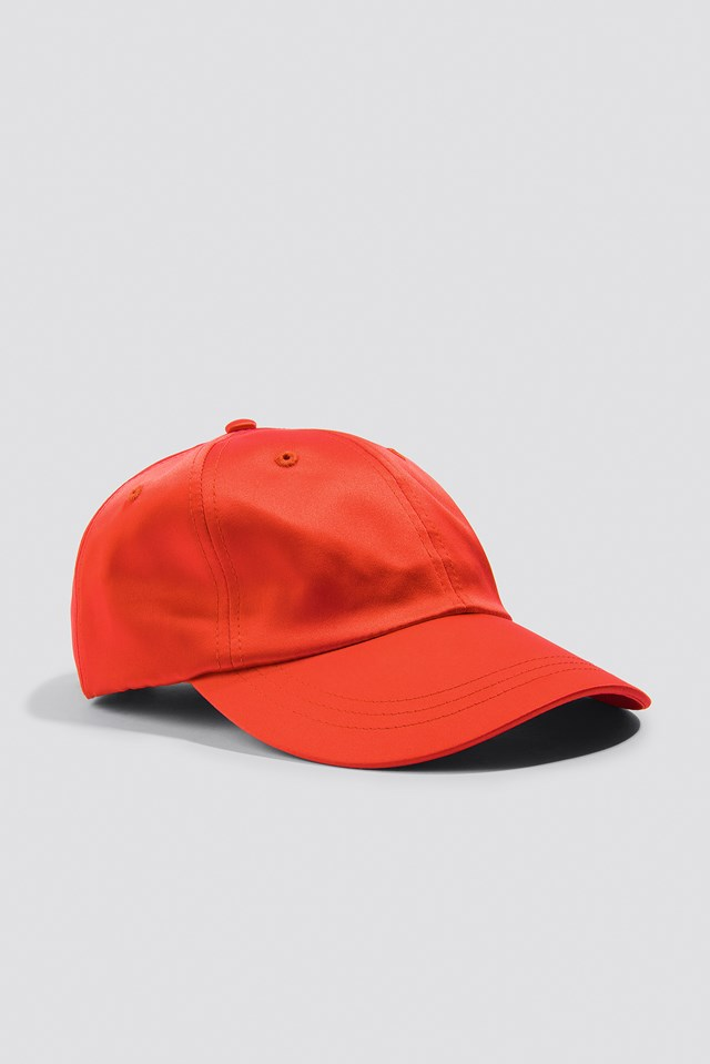 Satin Cap Red