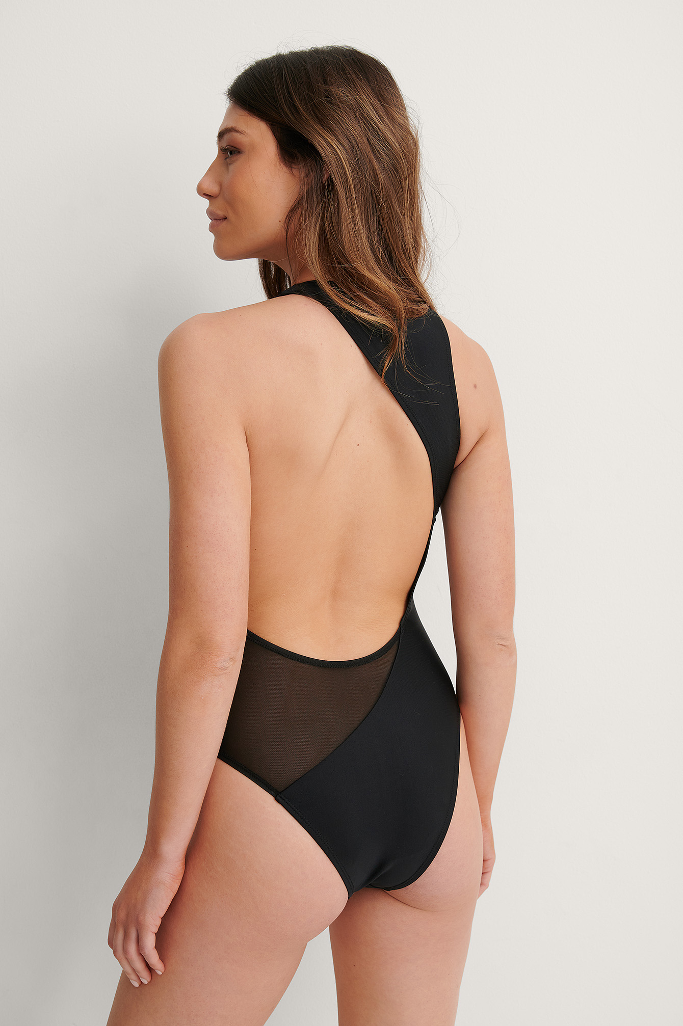 Black Recycled Scooped Out Swimsuit