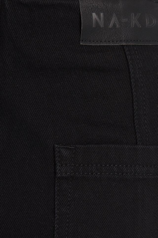 Seam Detail Slouchy Jeans Black