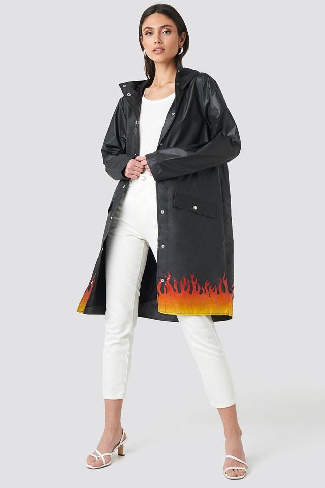 Set On Fire Rain Coat NA-KD