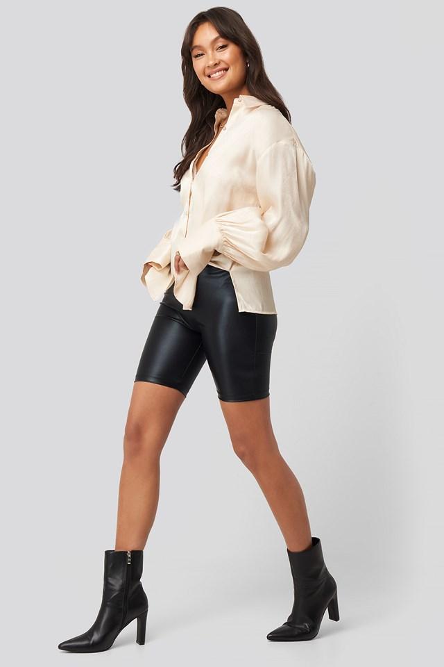 Shiny Cycle Shorts Black