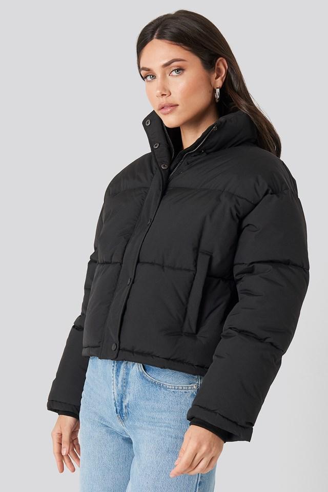 Short Padded Jacket Black