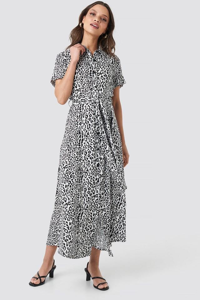 Short Sleeve Maxi Dress Leo White