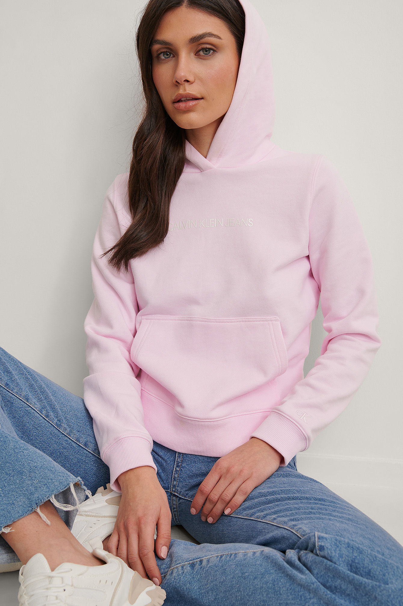 Pink Organic Shrunken Institutional Hoodie