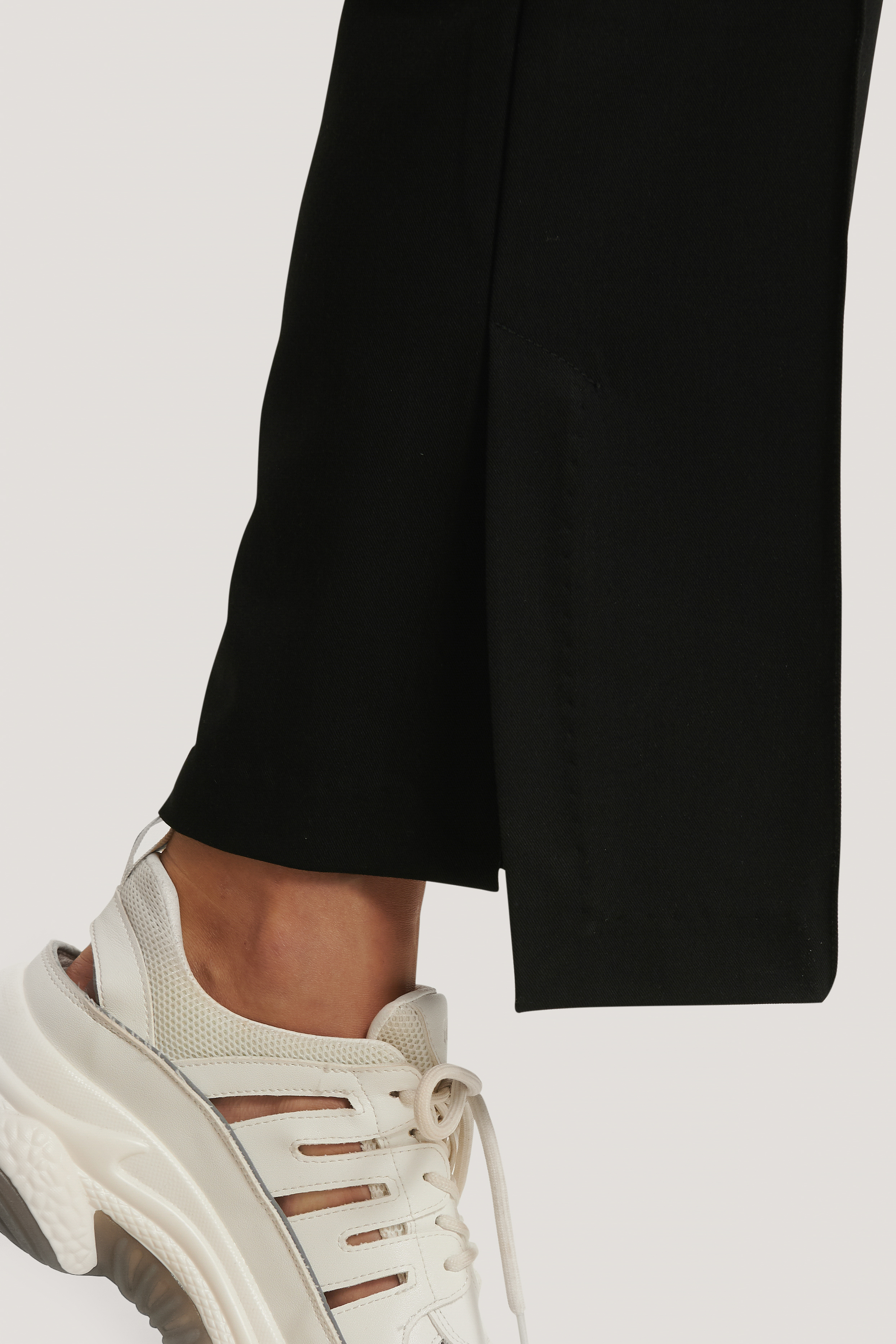 Black Side Slit Tailored Pants
